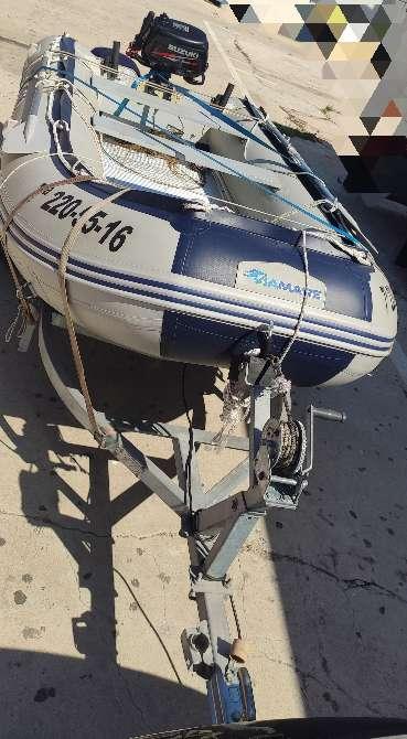 Imagen producto Zodiac 380 preparado para salir a pescar 2