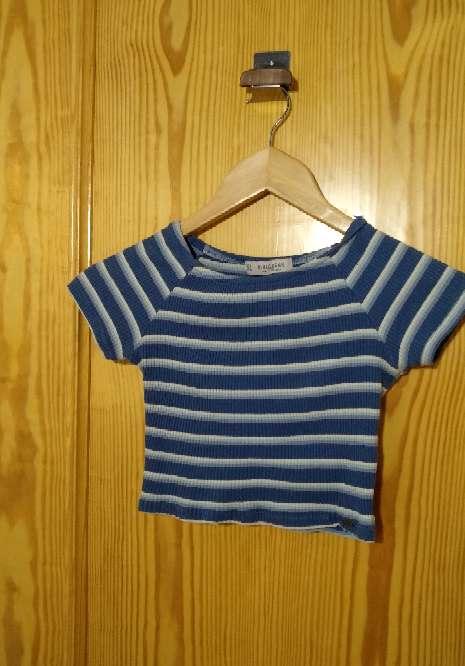 Imagen camiseta básica rayas pull&bear