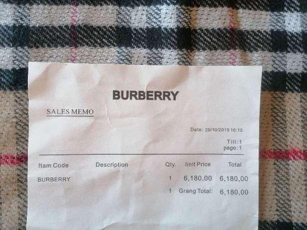 Imagen producto BURBERRY bufanda cashmere original 5