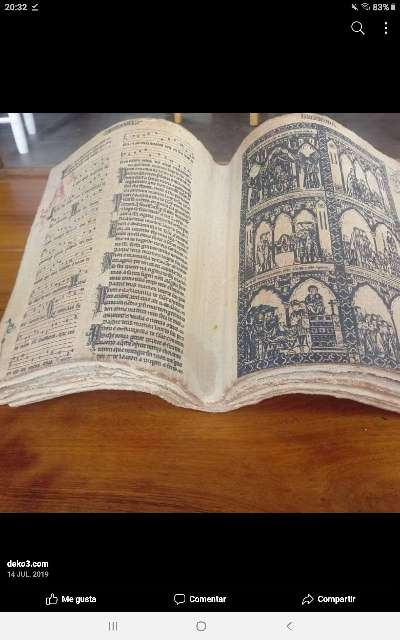 Imagen libro antiguo de pidra 40x16 cm