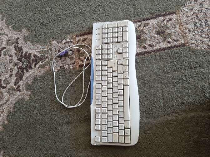 Imagen teclado del ordenador antiguo