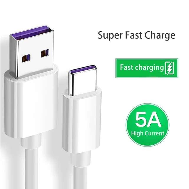 Imagen Cable usb 5A carga súper rápida