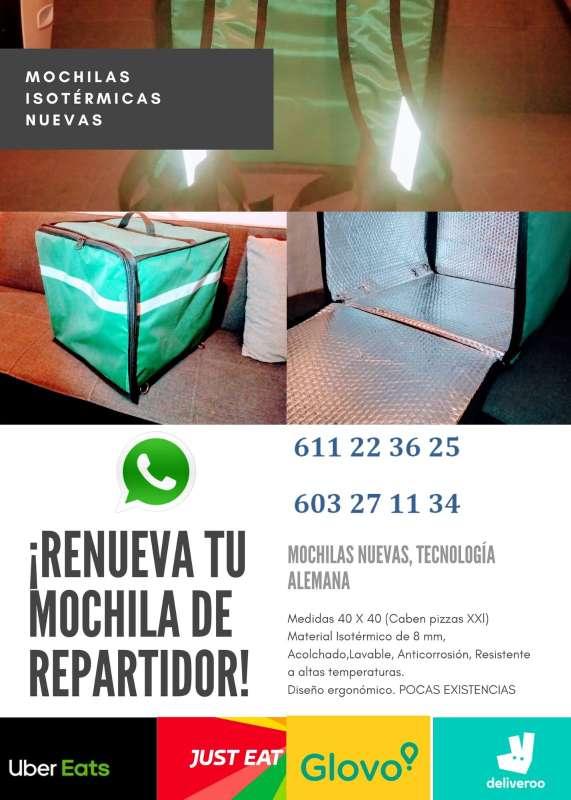 Imagen producto Mochila isotérmica para repartir comida 8
