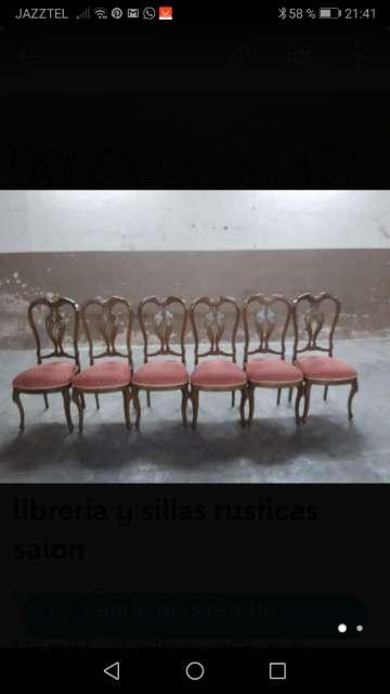 Imagen Libreria y sillas salón