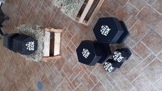 Imagen mancuernas barras y pesas gimnasio