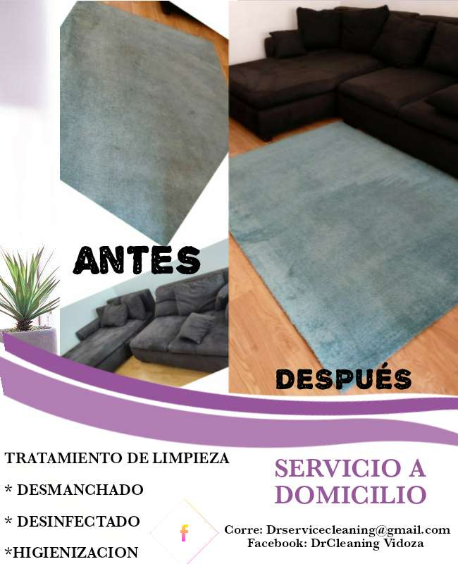Imagen Tratamiento de limpieza para sofá sillón sillas colchones alfombra y moqueta