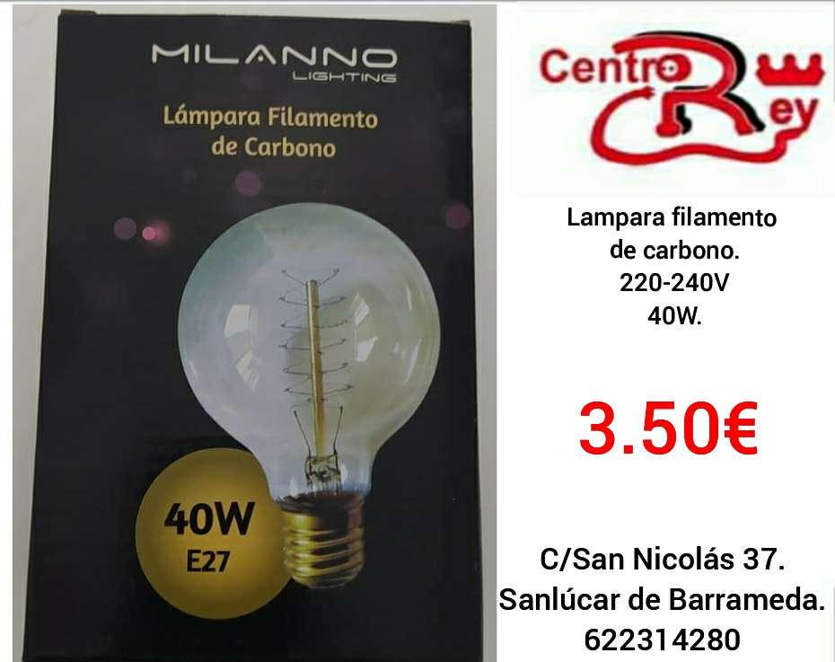 Imagen lámpara filamento de carbono