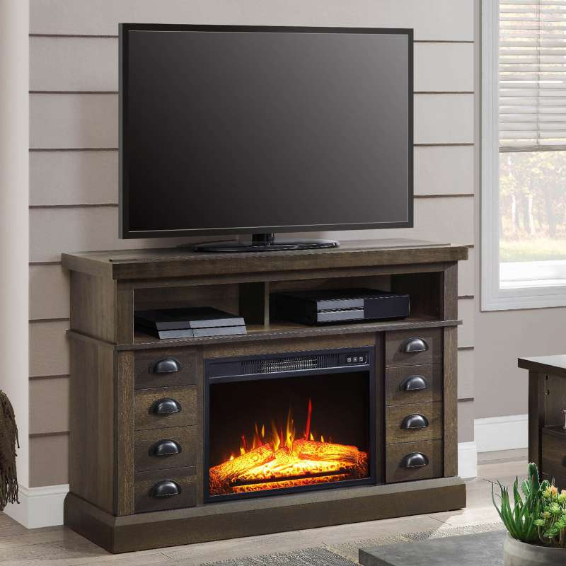 Imagen stand tv with fire place