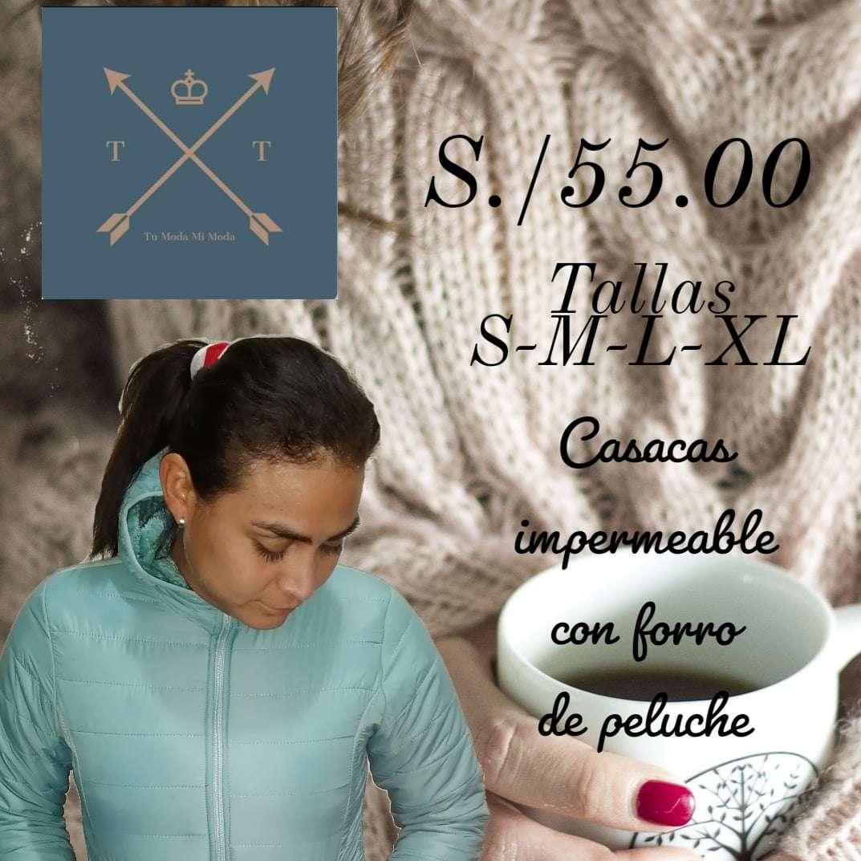Imagen casacas impermeable con forro de peluche