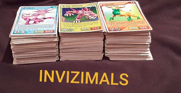 Imagen lote de cartas invizimals