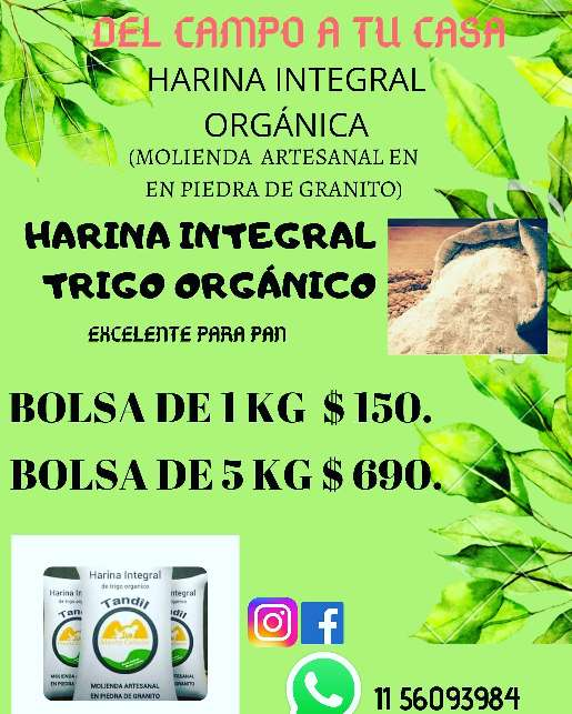 Imagen producto Harina integral orgánica  2