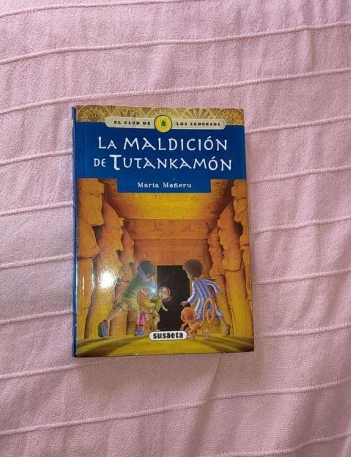 Imagen libro la maldición de Tutankamón