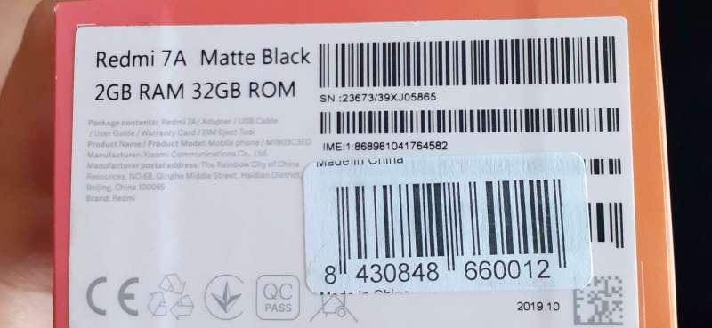 Imagen producto Xiaomi Redmi 7A  4