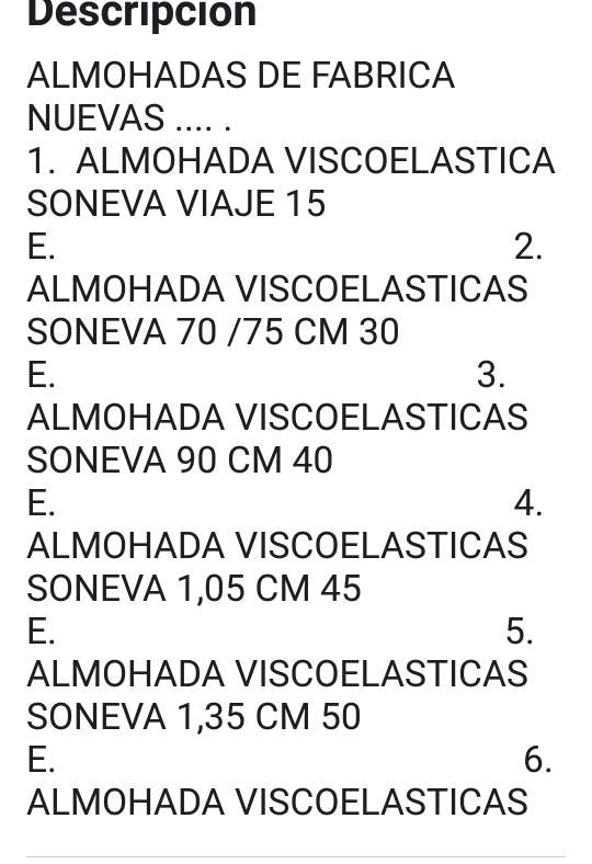 Imagen producto Almohadas viscoelasticas de fabrica  4