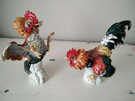 Imagen Pareja de gallos de Algora, piezas únicas de porcelana, arte exclusivo