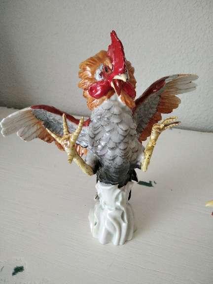 Imagen producto Pareja de gallos de Algora, piezas únicas de porcelana, arte exclusivo 2