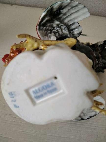 Imagen producto Pareja de gallos de Algora, piezas únicas de porcelana, arte exclusivo 4
