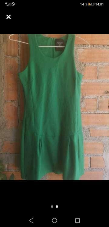 Imagen Vestido verde zara