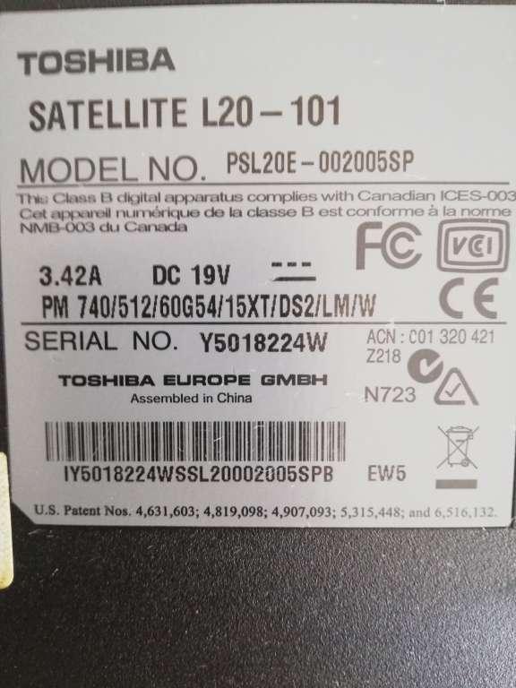 Imagen producto Ordenador Toshiba para piezas o para arreglarlo  2