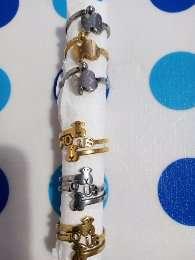 Imagen anillos de acero osito tipo Tous