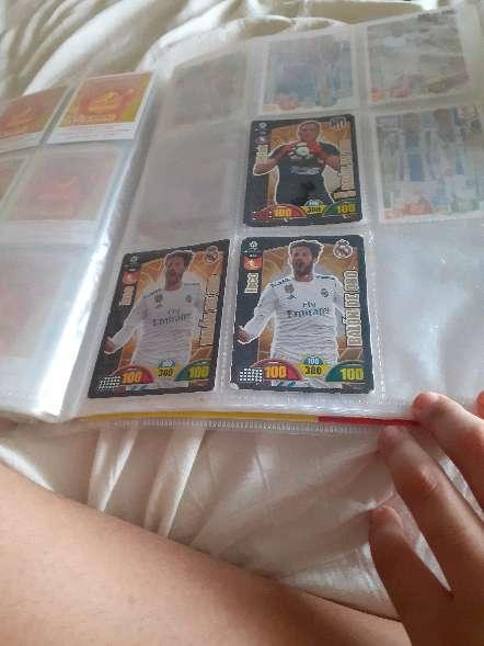 Imagen producto Album entero + 208 cartas de futbol 5