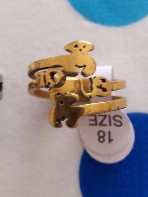 Imagen producto Anillos de acero osito tipo Tous 7