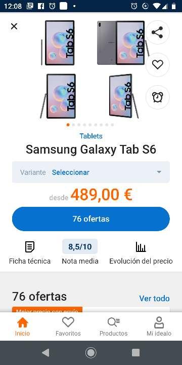 Imagen samsung galaxy tab s6 lite