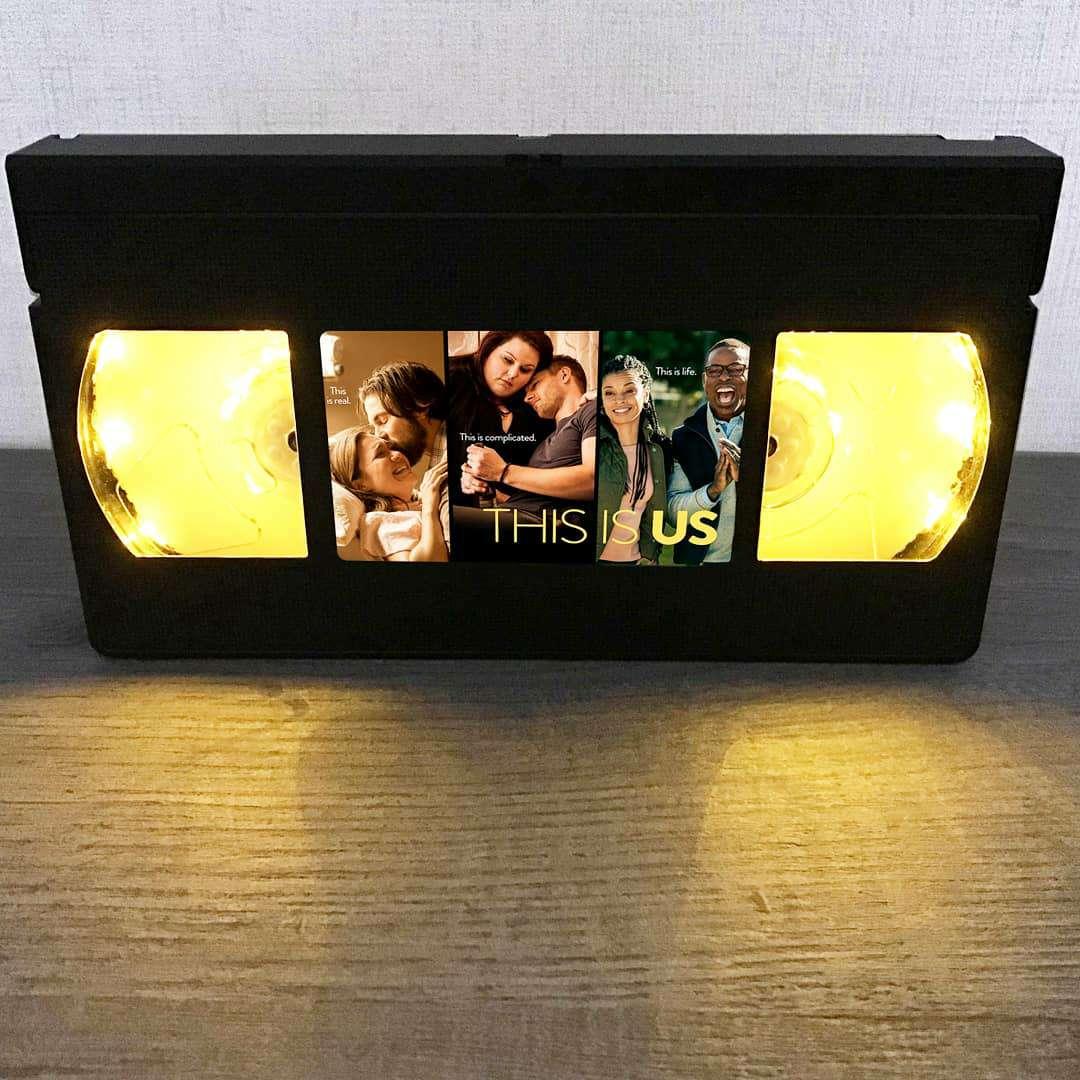 Imagen Lámpara retro VHS