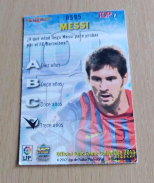 Imagen producto Messi cromo fútbol  2