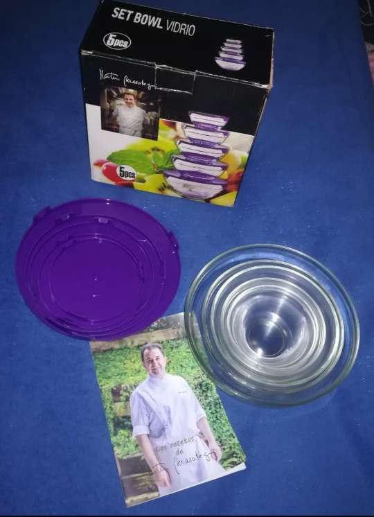 Imagen Set 5 bowls vidrio