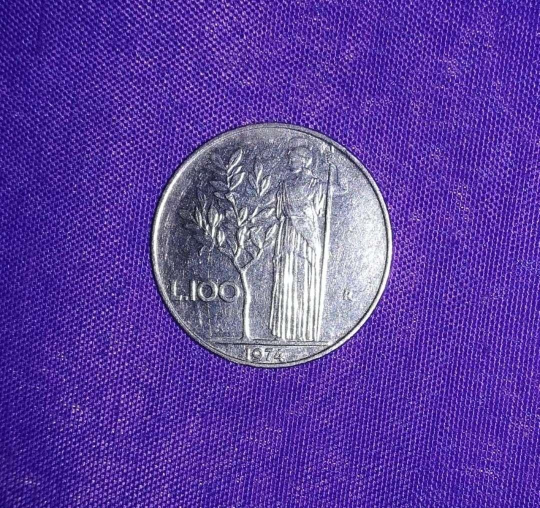 Imagen Moneda L 100 República Italiana
