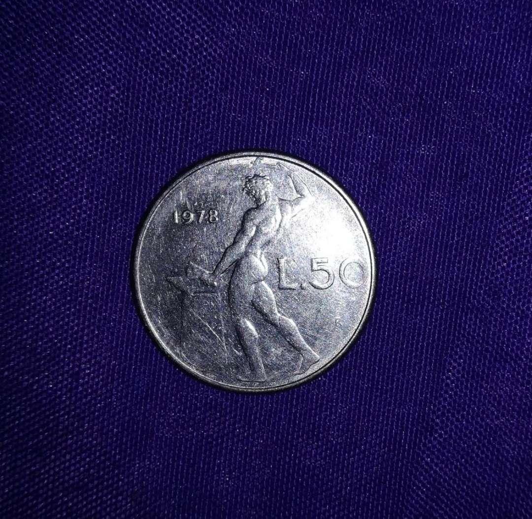 Imagen Moneda L 50 República Italiana 1978
