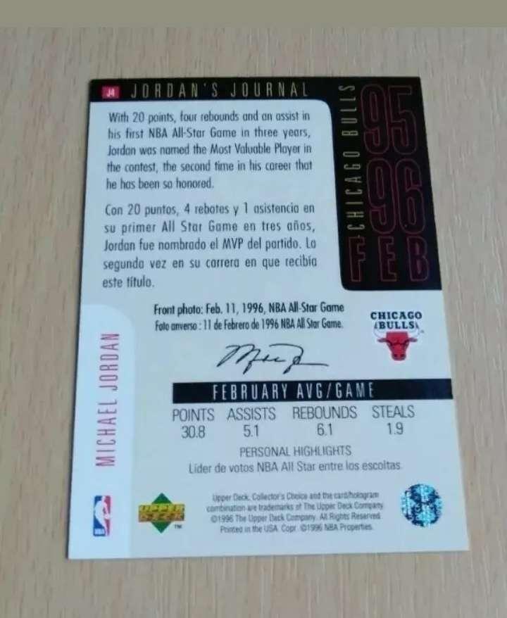 Imagen producto Michael Jordan Card /cromo NBA.  2