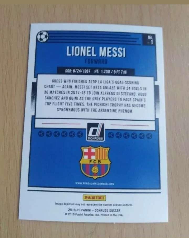 Imagen producto Messi card /cromo fútbol.  2