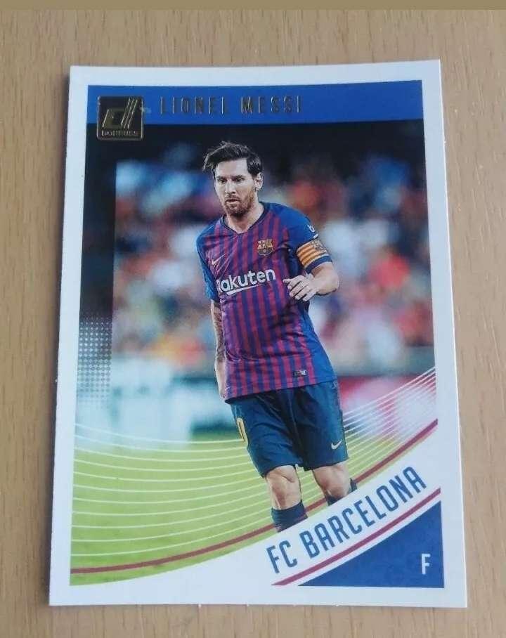 Imagen Messi card /cromo fútbol.