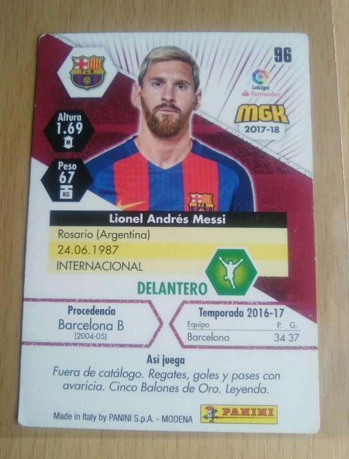 Imagen producto Messi card.  2