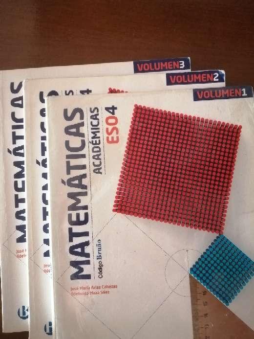 Imagen Libro de matemáticas 4 eso bruño