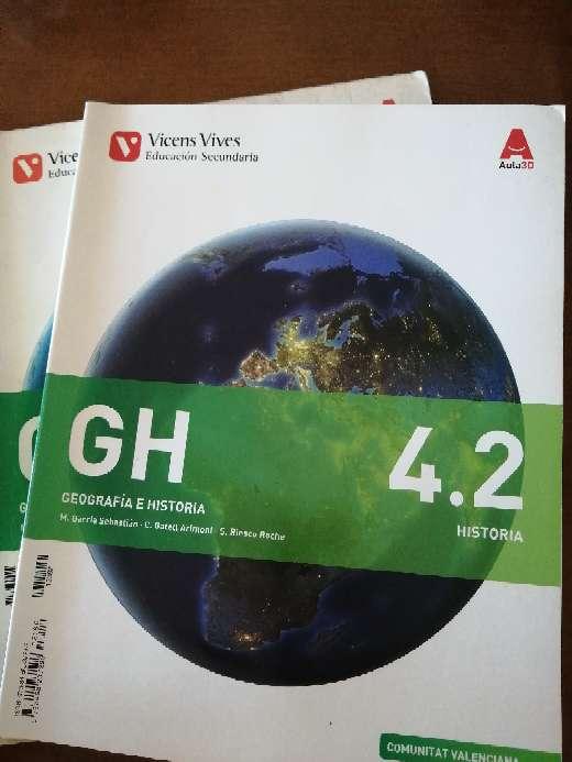 Imagen Libro de historia y geografía 4 eso