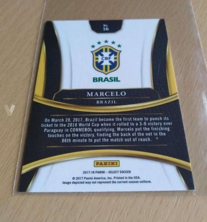 Imagen producto Marcelo card fútbol.  2
