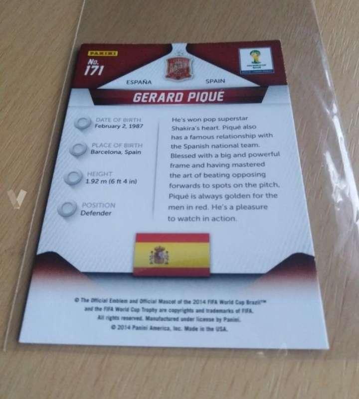 Imagen producto Piqué card fútbol.  2