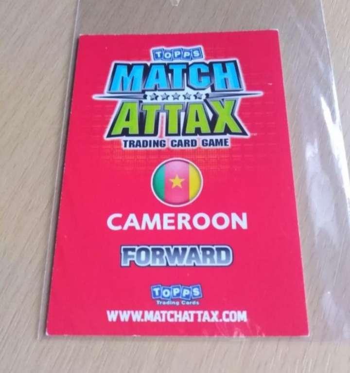 Imagen producto Etoo card fútbol.  2