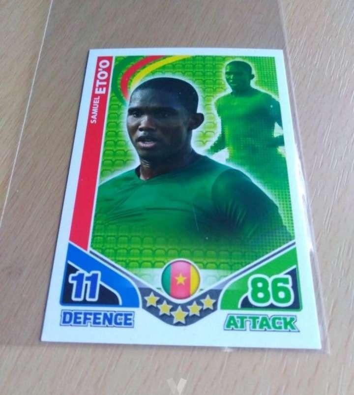 Imagen Etoo card fútbol.