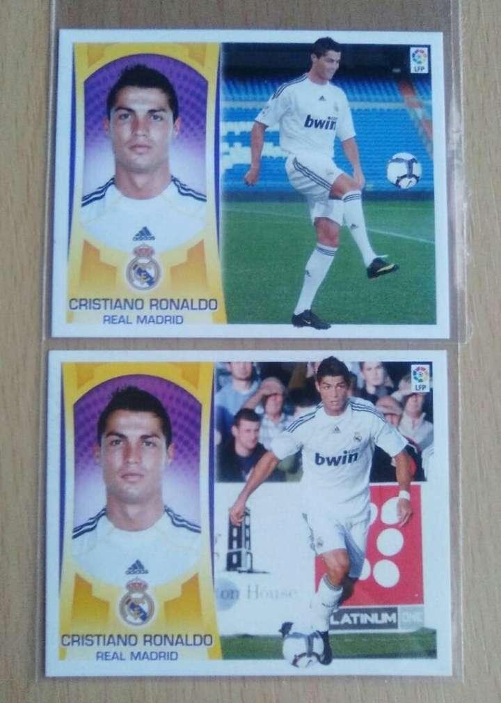 Imagen Cristiano Ronaldo 2 versiones Real Madrid.