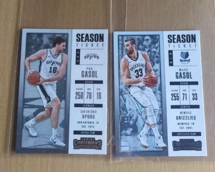 Imagen Dos cards Pau Gasol y Marc Gasol NBA.