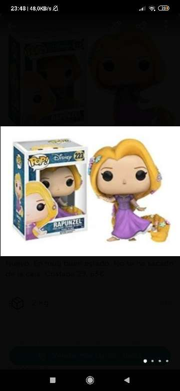 Imagen Funko Pop-Figura Disney Rapunzel vestido de baile