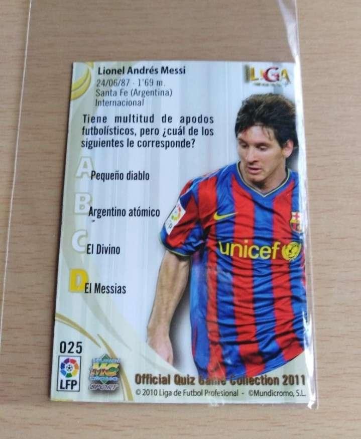 Imagen producto Messi cromo 2