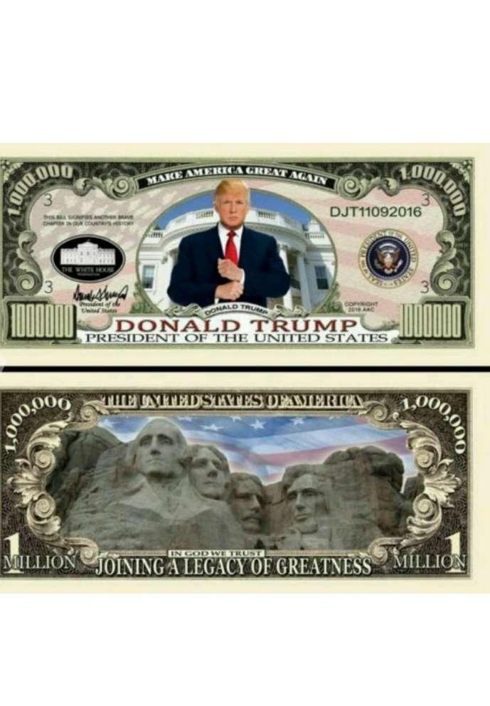 Imagen Billete Donald Trump. Presidente EEUU.