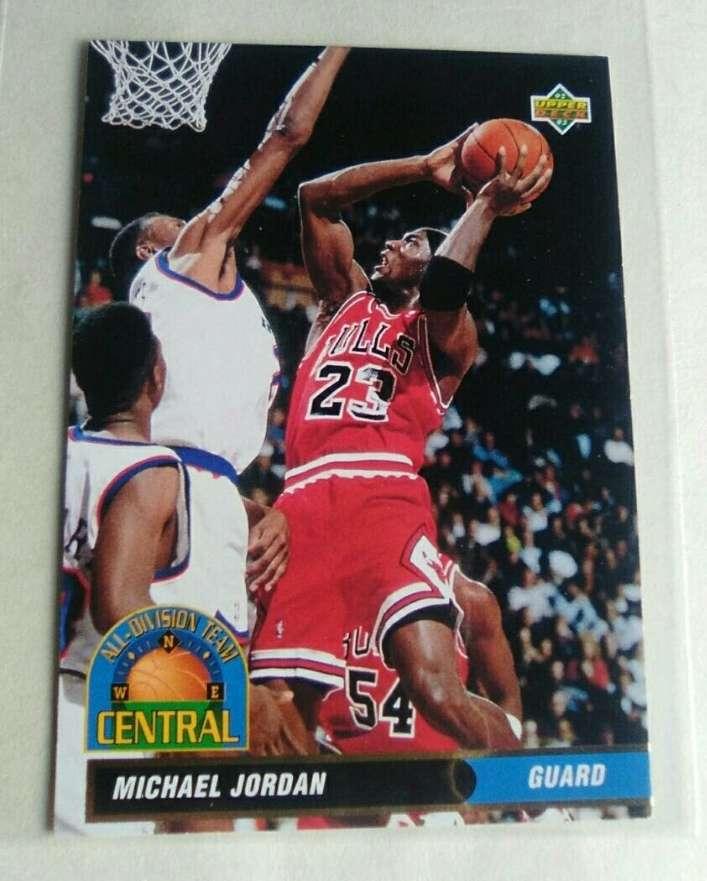 Imagen Jordan cromo card. NBA.