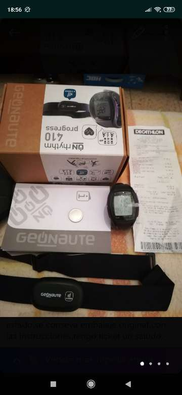Imagen producto Reloj pulso metro con cinta cardiaca  2