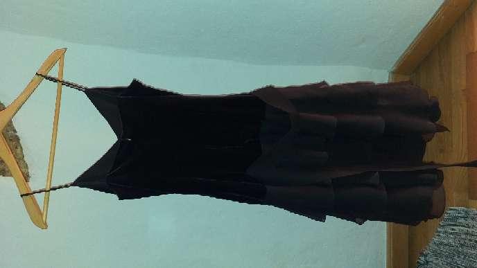 Imagen vestido de gasa y terciopelo negro talla 38 corte inglés